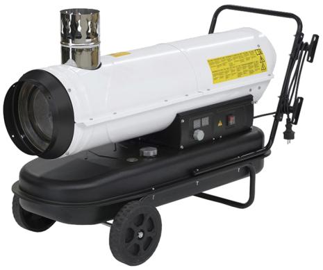 Dieselkanon 30 kW med skorsten