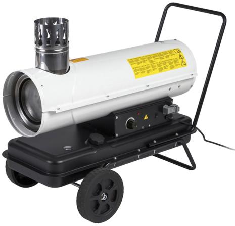Dieselkanon 20 kW med skorsten