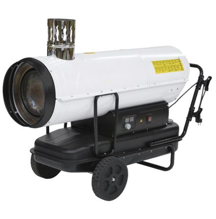 Dieselkanon 50 kW med skorsten