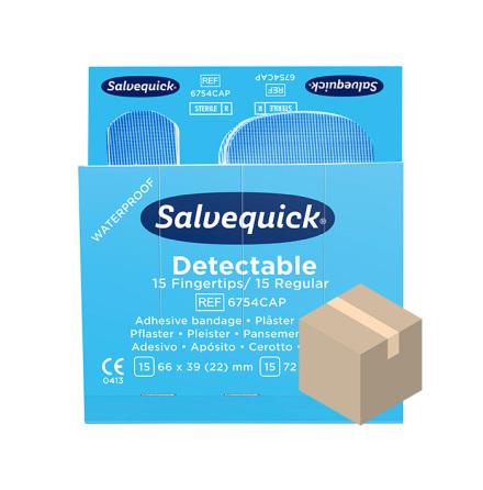 Blue Detectable Fingertopp & Regular Plåster Salvequick
